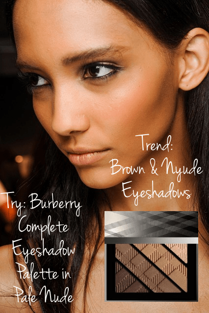 London spring beauty trend brown  and nude eyeshdows