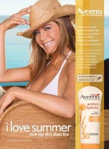 Jennifer Aniston for Aveeno Sun