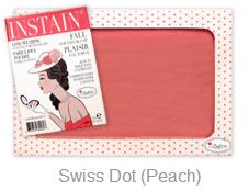theblam instain swiss dot -- peach