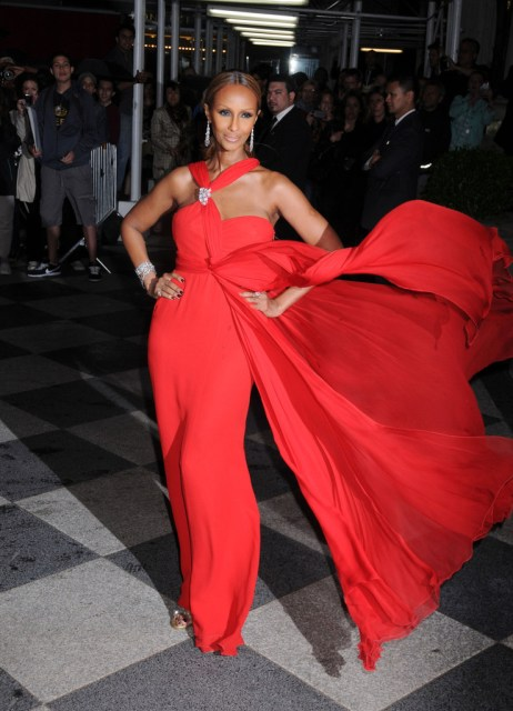 Iman at the 4th Annual Amfar Inspiration Gala at the Plaza Hotel in New York City.