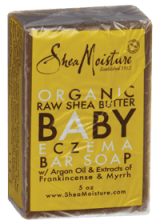 Product Review—Baby Skin Care: Shea Moisture Organic Raw Shea Butter and Argan Baby Bar Soap