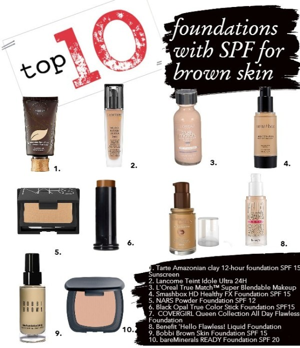 blinging beauty top 10 foundations with sunscreen for brown skin