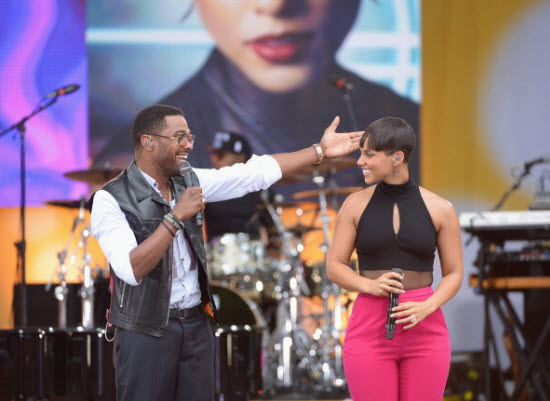 alicia-keys- maxwell gma Photo by Michael Loccisano-Getty Images