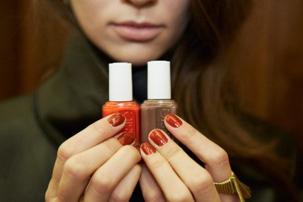 essie for Veronica Beard Fall/Winter 2014  Colors: meet me at sunset and mink muffs