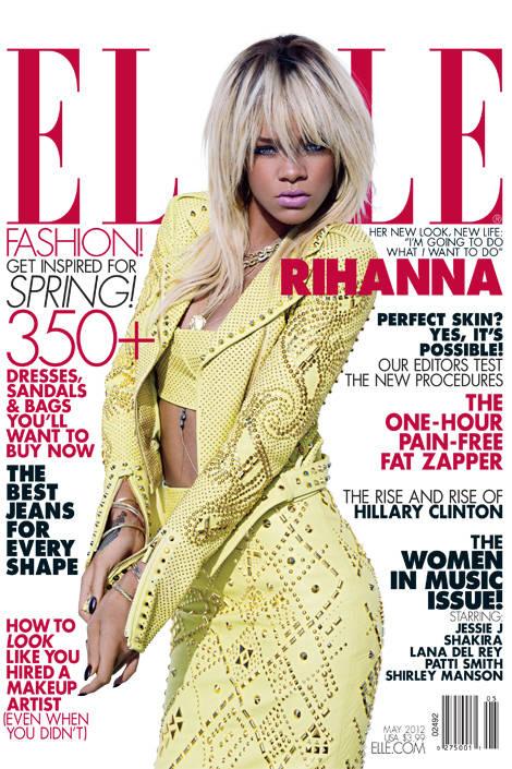 Elle may 2014 Rihanna cover
