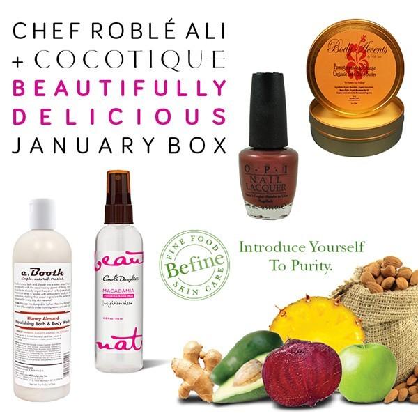 COCOTIQUE Chef Roble Ali Beautifully Delicicous Box