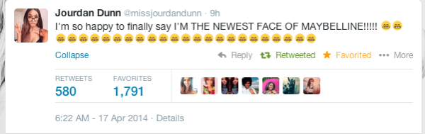 jourdan dunn tweet