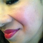Flower Beauty Kiss Me Twice Lip & Cheek Chubby in Raisin the Roof  as blush