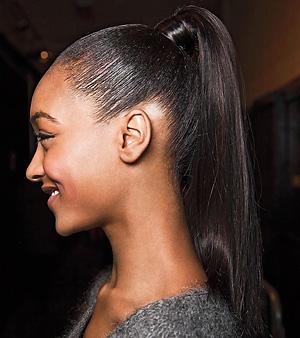 jourdan dunn ponytail