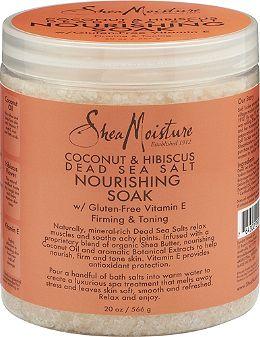 sheamoisture Coconut & Hibiscus Dead Sea Salt Muscle Relief Mineral Soak