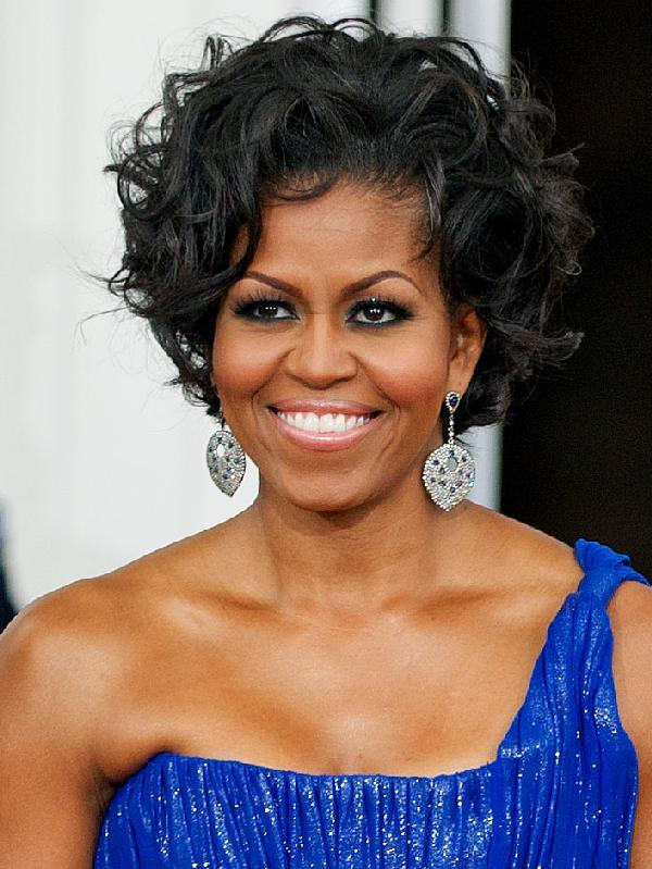 Michelle-Obama Curly hair