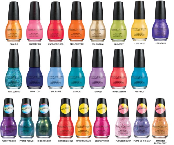 SINFULCOLORS SPRING 2015 GROUP IMAGE WITH SHADE NAMES