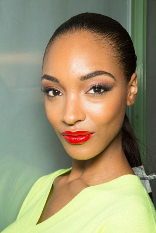 jourdan dunn red lipstick