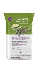 Brilliant Balance towelettes