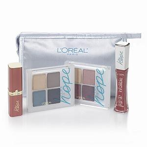 L'Oreal Color of Hope Cosmetics Bag