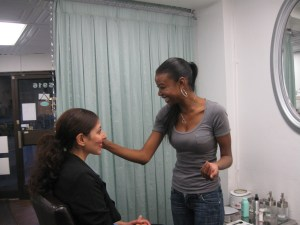 Sahar (client) and Alresa standing