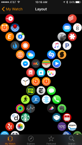 Apple Watch App Layout X iPhone