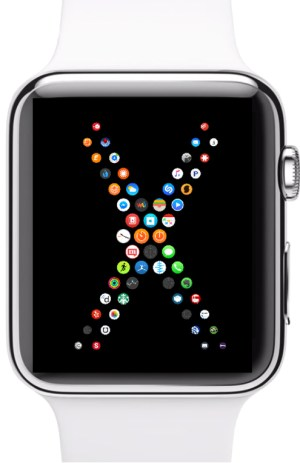 Apple Watch Face with X Layout