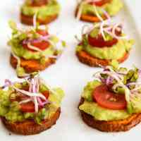 Sweet Potato + Avocado Bites