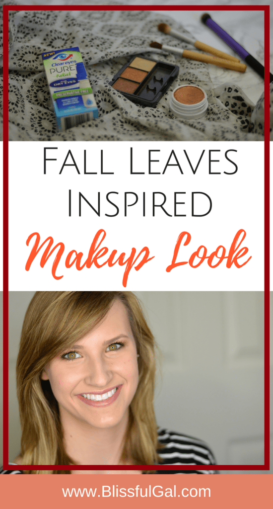 Fall Eye Look - Fall is one of my favorite times of the year. With the leaves changing colors, I wanted to recreate the look with my eye shadow!