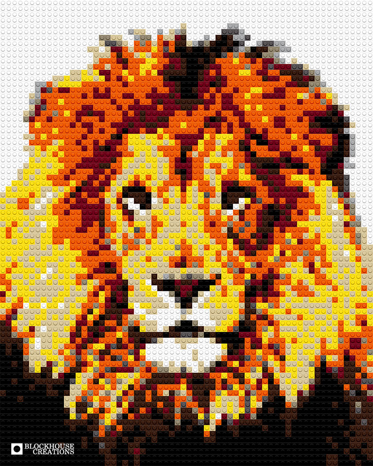 100 Days of Mosaics – Day 13 – Lion