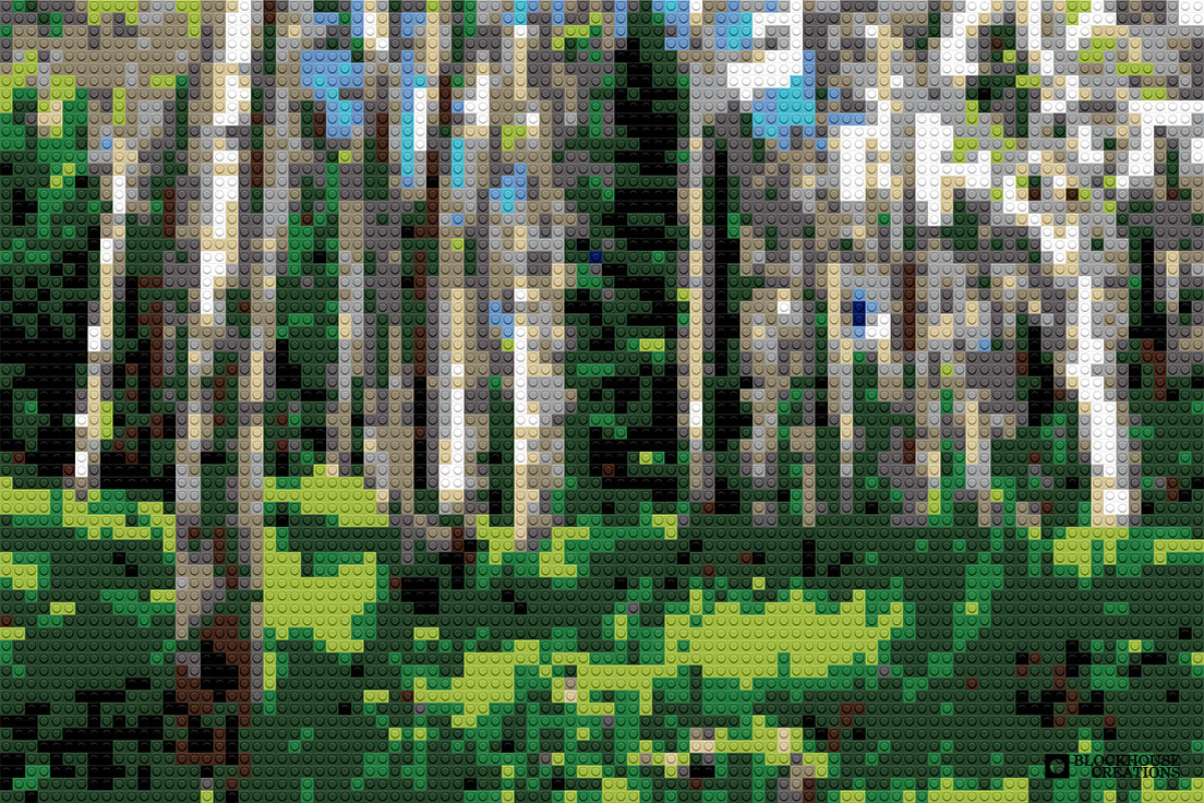 100 Days of Mosaics – Day 66 – Birchwood Forest