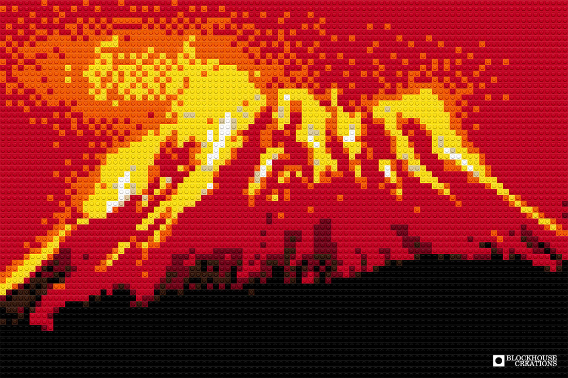 100 Days of Mosaics – Day 68 – Volcano