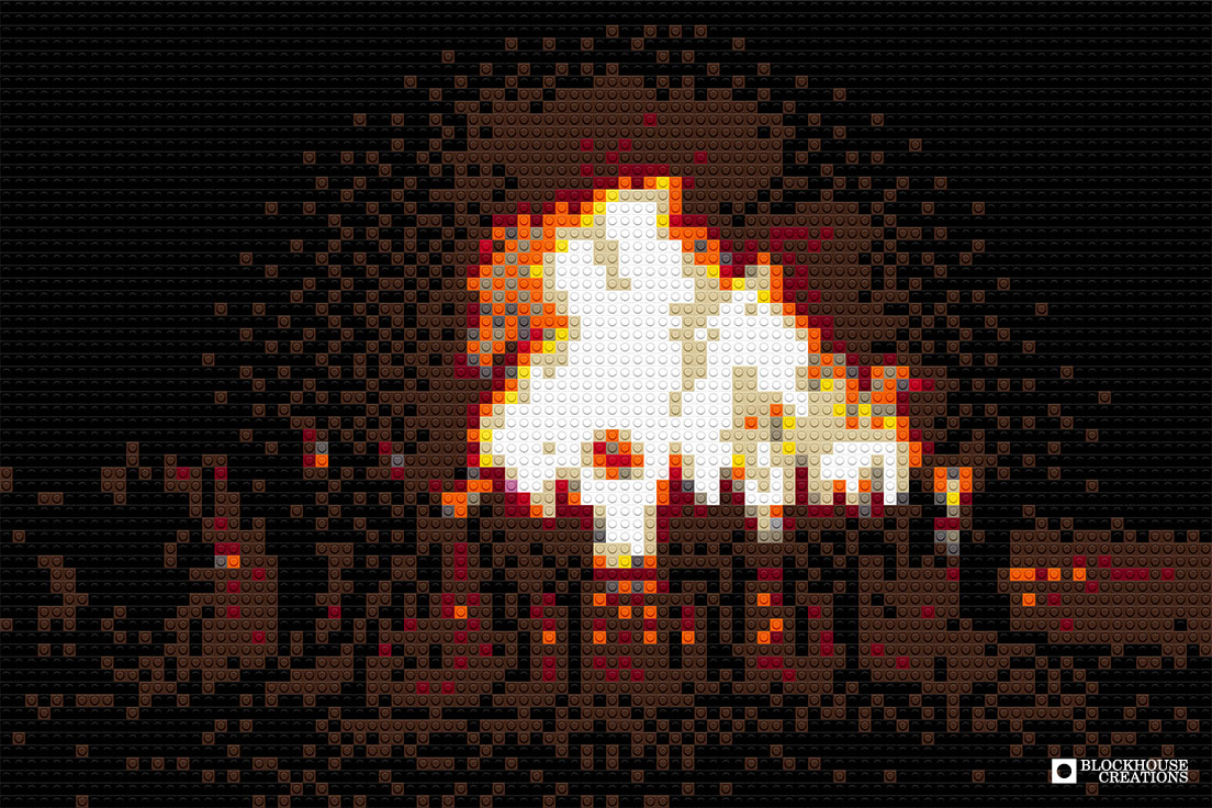 100 Days of Mosaics – Day 70 – Bonfire