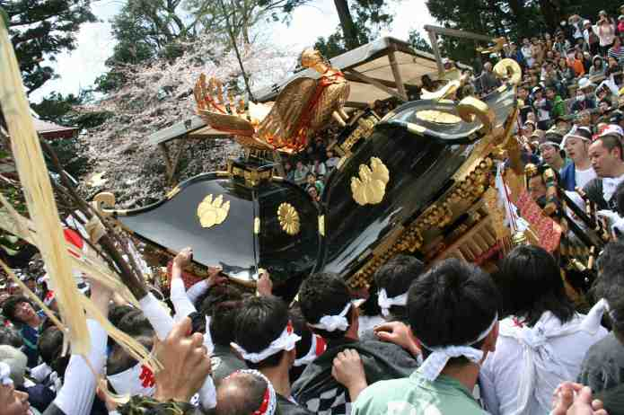 Kenka Mikoshi, or Fighting Shrines, at the Itoigawa Kenka Matsuri