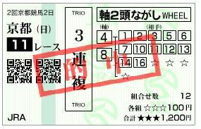 シルクロードステークス3連複17,920円的中キタ━(゚∀゚)━!