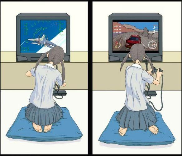 ゲームをしてる女の子の画像ください!