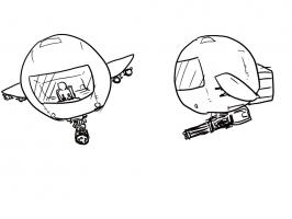 戦闘機の新しいデザイン考えたから見てくれよ