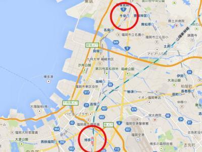 福岡・東区の路上にて、見知らぬ男「博多駅はどちらですか」 会社員(26)「千早駅の方が近いですよ」 → 道を尋ねてきた男に腹部を刺される