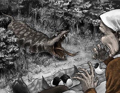 滋賀・近江八幡の古い民家の床下から、見慣れない生き物の骨が見つかる(画像) … 体長35cm、ひしゃげた頭に曲がった背骨、産毛が生えたように見える下半身、「幻のツチノコか」