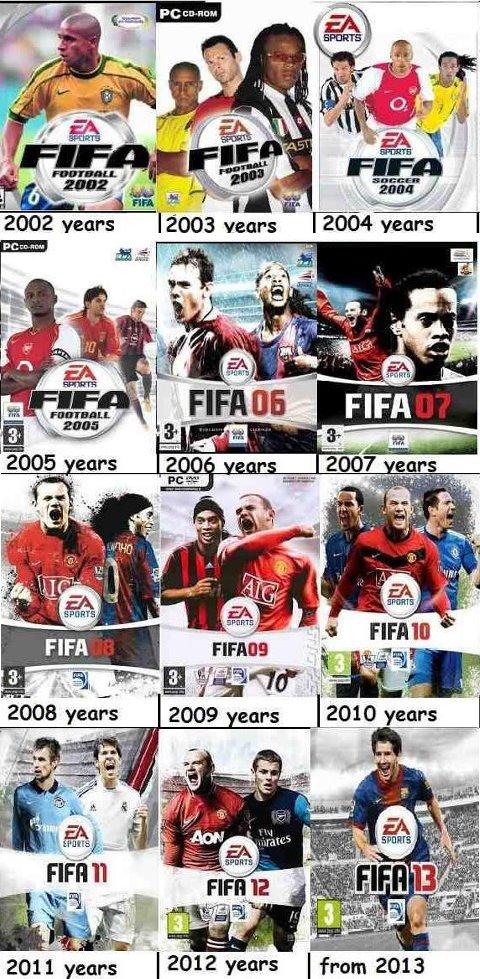 国内版ウイイレ、海外版ウイイレ(PES)、EA FIFAの歴代パッケージ一覧