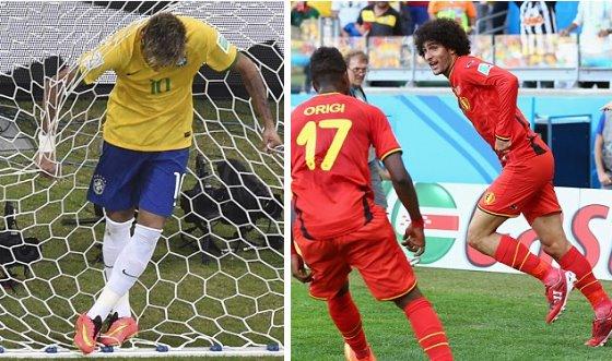 【動画ハイライト】ブラジル対メキシコ、ベルギー対アルジェリア、アメリカ対ガーナ