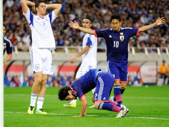 【W杯壮行試合】日本、キプロスに1-0勝利! 内田復帰ゴール
