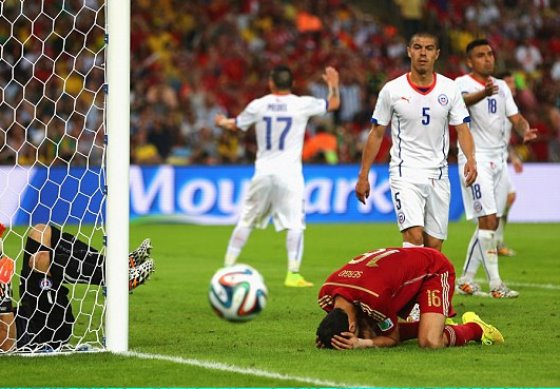 【W杯B組】スペイン代表、チリ代表に敗れ全くいいところなくワールドカップを終える(動画)