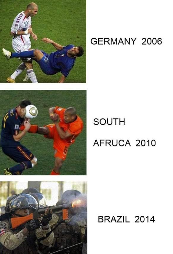 ワールドカップ ドイツ大会 → 南アフリカ大会 → ブラジル大会