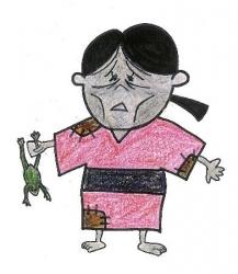 鳥取城跡のキャラ「かつ江さん」が公開中止、飢餓を連想させるとの批判