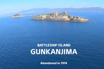 軍艦島の内部をドローンで撮影した動画が話題に(動画)