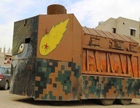 【朗報】クルド人、手作り戦車でイスラム国(ISIL)と戦うwwwwwwwwww(画像あり)