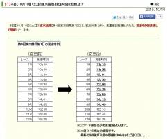 【競馬】 東京競馬、馬が遅刻で出走時間大幅変更