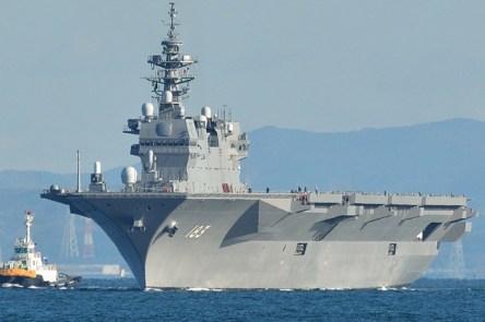 海上自衛隊の「いずも」型2番艦の進水式、護衛艦『かが』と命名される