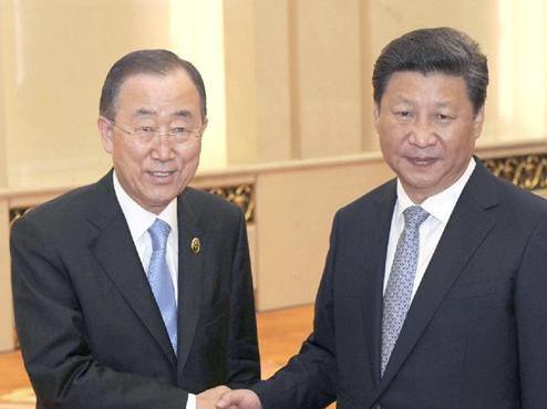 国連の潘基文事務総長 「国連とか事務総長って中立でなくちゃダメなの?」「歴史を正視して、すばらしい未来を期待したから中国を訪問した」「軍事パレードは心揺さぶられた」