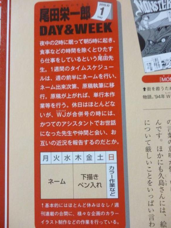 【悲報】尾田栄一郎「睡眠3時間。食事以外はほぼ仕事。休み無し」
