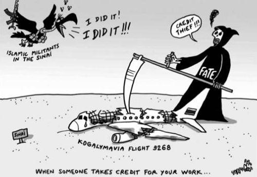 乗客乗員224人が死亡したロシア機の墜落事故、韓国の新聞が風刺画で侮辱(画像)→ 在韓ロシア大使館が抗議「無実の人々が多数犠牲になった事故の風刺画は、私達の国に対する侮辱である」