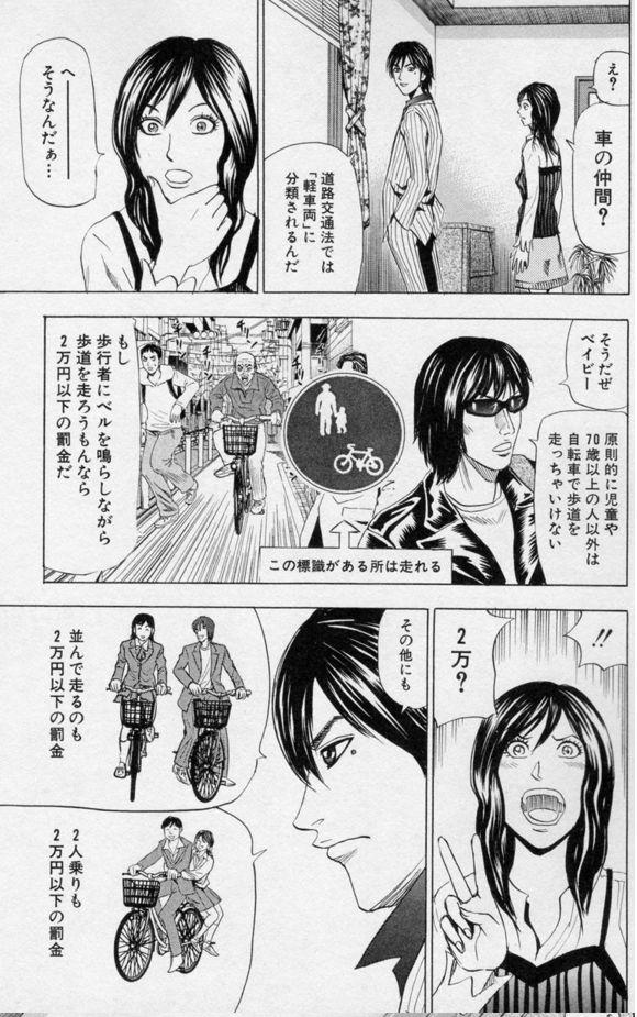 【画像】この漫画によると自転車のベル鳴らしてる奴は犯罪者らしいぞwwwwww