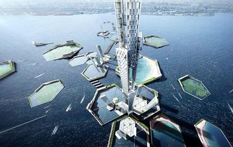 2045年、東京に5,577ftの超高層ビルを建設する計画(画像) … 世界で最も高いドバイのブルジュ・ハリファビルの2倍以上の高さ