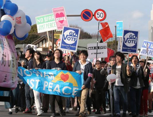 SEALDs、渋谷原宿でデモ「民主主義って何だ!?」→ 前橋市・八幡市・藤沢市で共産推薦候補が立て続けに負ける … 香山リカ「平和は奪おうとする人から闘って奪い返すものになった」